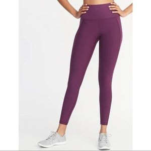 Old Navy high rise purple compression leggings M